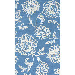 Floor Carpet and Rugs Hand Tufted, The Rug Concept Blue Carpets Online Tbilisi 6079-L, blue, 3ft x 5ft