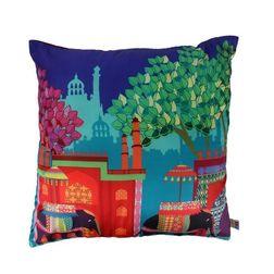 The Elephant Company Savari Square Printed Cushion Covers, multi