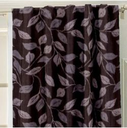 Ramkhao Floral Readymade Curtain - 61, window, purple