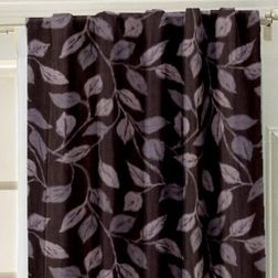 Ramkhao Floral Readymade Curtain - 61, window, purple