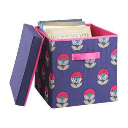 Haus and Sie Paisley Cotton & MDF Rectangular Box - ST2, magzine and newspaper storage