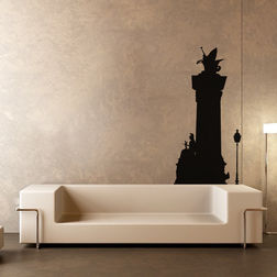 Kakshyaachitra Warrior Princess and Flying Horse Wall Stickers For Bedroom And Living Room, 23 48 inches