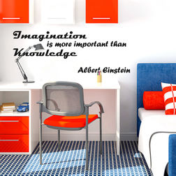 Kakshyaachitra Imagination Is More Important Than Knowledge Wall Stickers For Bedroom And Living Room, 24 13 inches