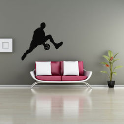 Kakshyaachitra In and Out Basketball Dribble Wall Stickers For Bedroom And Living Room, 26 24 inches