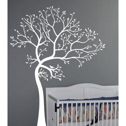 Kakshyaachitra Tree of Spring Wall Stickers For Bedroom And Living Room, 31 48 inches