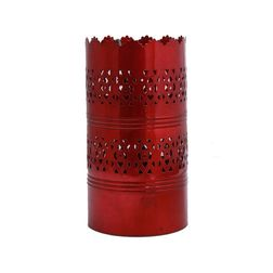 Aasra Decor Vertical Cutwork Lamp Lighting Table Lamp, red