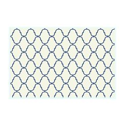 Dreamscape Abstract Off White Table Mat Set - 6 Pieces, blue, 21.5 in