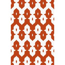 Floor Carpet and Rugs Hand Tufted, AC Concept Ethnic Red Carpets Online - ACR (4) -L, red, 3ftx5ft