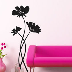 Kakshyaachitra Dainty Flowers Wall Stickers For Bedroom And Living Room, 12 24 inches