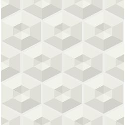 Elementto Geometric Design Modern 3D Wallpaper for Walls - td30500, grey