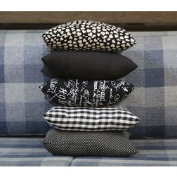 Shades of Black Cushion Cover MYC-37, pack of 5, black