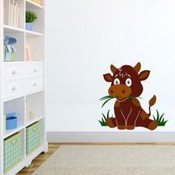 Wall Sticker For Kids Chipakk Cow Brown AN8AS