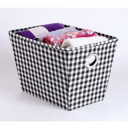 Towel Basket,  black & white