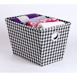 Towel Basket,  black & white