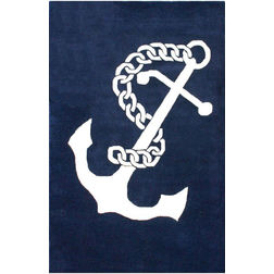 Floor Carpet and Rugs Hand Tufted, The Rug Concept Navy Carpets Online Tbilisi 6014-M, 3ft x 5ft, navy blue