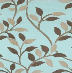 Romania Floral Curtain Fabric - 36, blue, fabric