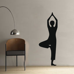 Kakshyaachitra Vrikshasana Pose Design Wall Stickers For Bedroom And Living Room, 24 69 inches
