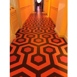 Floor Carpet and Rugs Hand Tufted AC Concept Geometric Orange Carpets Online - CRD-04-L, 3ftx5ft, orange