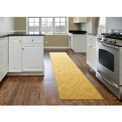 Floor Carpet and Rugs Hand Tufted AC Concept EthnicYellow Carpets Online - RN-30-L, 3ftx5ft, yellow