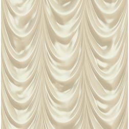Elementto Stylish Curtain Look Design Modern 3D Wallpaper for Walls - td30301, beige