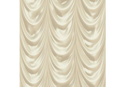 Elementto Stylish Curtain Look Design Modern 3D Wallpaper for Walls - td30301, beige