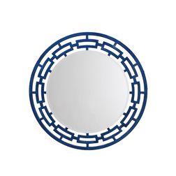 Aasra Decor Weave Mirror Decor Wall Mirror, blue