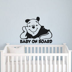 Kakshyaachitra Baby On Board Kids Wall Stickers, 29 24 inches