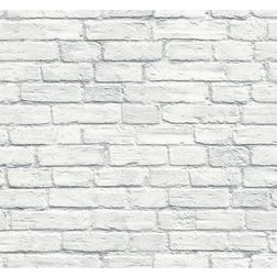 Elementto Brick Design Modern 3D Wallpaper for Walls - td31500, white