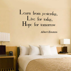 Kakshyaachitra Learn Live Hope Quote Wall Stickers For Bedroom And Living Room, 24 14 inches