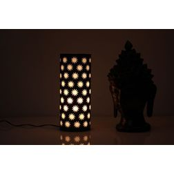 Aasra Decor Black Star Design Table Pillar Lamp Lighting Table Lamp, black