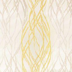Zoya Geometric Curtain Fabric - WI708, yellow, fabric