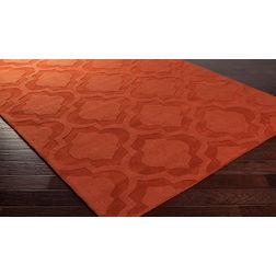 Floor Carpet and Rugs Hand Tufted, AC Concept Geometric Orange Carpets Online -B4-12-L, 3ftx5ft, orange