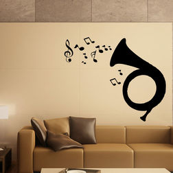 Kakshyaachitra Bugle Music Wall Stickers For Bedroom And Living Room, 24 20 inches