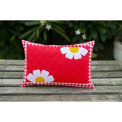 Red Flower Base Cushion Cover MYC-16, pack of 1, red