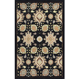 Floor Carpet and Rugs Hand Tufted, The Rug Concept Black Carpets Online Tbilisi 6088-L, black, 3ft x 5ft