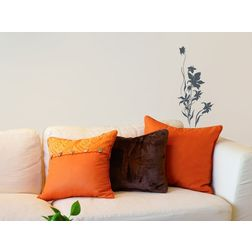 Wall Stickers Home Decor Line Flower Silhoutte - 41007
