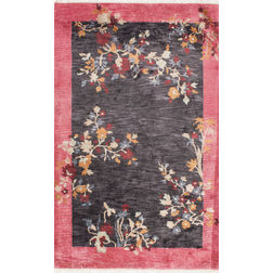 Floor Carpet and Rugs Hand Tufted, The Rug Concept Pink Carpets Online Tbilisi 6009-L, pink, 3ft x 5ft