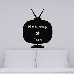 Kakshyaachitra Radio Shape Blackboard Wall Stickers For Bedroom And Living Room, 48 61 inches