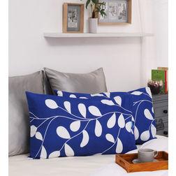 Dreamscape 100% Cotton 140TC Printed Blue Pillow Pair, blue
