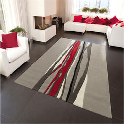 Floor Carpet and Rugs Hand Tufted AC Concept Abstract Grey Carpets Online - A2-25-L, 3ftx5ft, grey