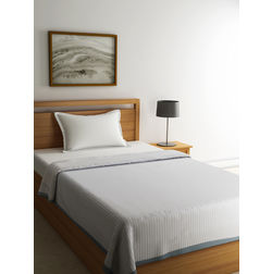 Dreamscape Premium Polyviscose Off White Bed Blanket with Border, single