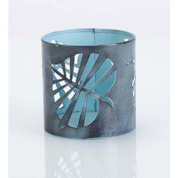 Aasra Decor Wild Leaf Candle Votive DecorVotives, blue