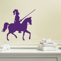 Kakshyaachitra Knight Riding a Horse Wall Stickers For Bedroom And Living Room, 48 44 inches