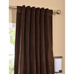 Softy Solid Readymade Curtain - SJ809, long door, brown