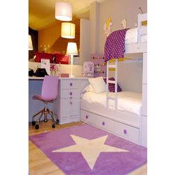Floor Carpet and Rugs Hand Tufted, AC Concept Kids Purple Carpets Online - KD-07-L, 3ftx5ft, purple