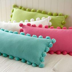 Pom Pom Lace Cushion Cover MYC-57, 4 pcs, multi
