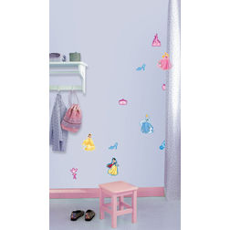 Kids Wall Stickers Decofun Princess 10 Mini Foam Elements - 24111