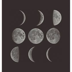 Elementto Wallpapers Moon Design Home Wallpaper For Walls, silver