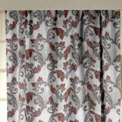 Zoya Floral Readymade Curtain - AP709, grey, long door