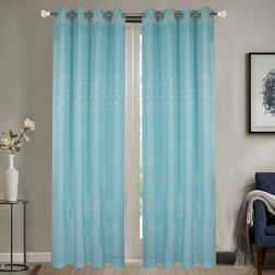 Dreamscape Poly Cotton Floral, lt blue, door